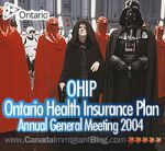 The Ontario Health Insurance Plan for the Blind and Toothless